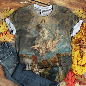 3D All Over Printed MAMA MARY LOVER TSHIRT 3D 05