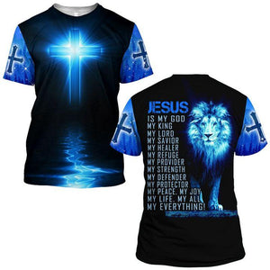 Lover Jesus 3D Printed Unisex T-Shirts 002