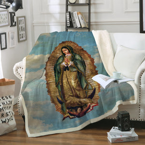 3D ALL OVER PRINTED Our Lady of Guadalupe Blanket 05