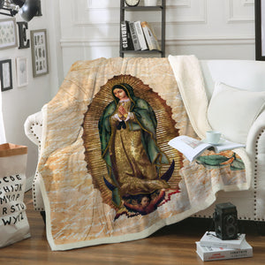 3D ALL OVER PRINTED Our Lady of Guadalupe Blanket 04