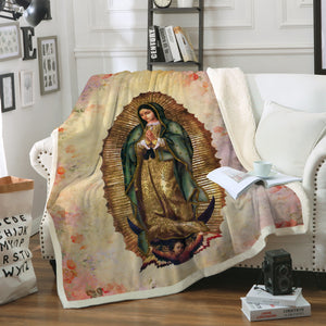3D ALL OVER PRINTED Our Lady of Guadalupe Blanket 12