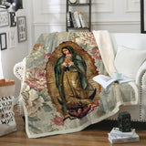 3D ALL OVER PRINTED Our Lady of Guadalupe Blanket 06