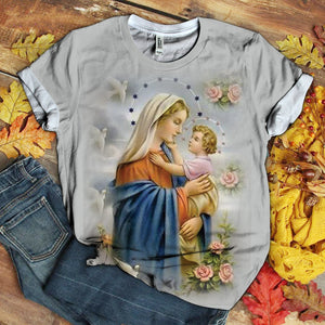 Lover Mary tshirt 3D 1.9