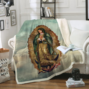 3D ALL OVER PRINTED Our Lady of Guadalupe Blanket 07