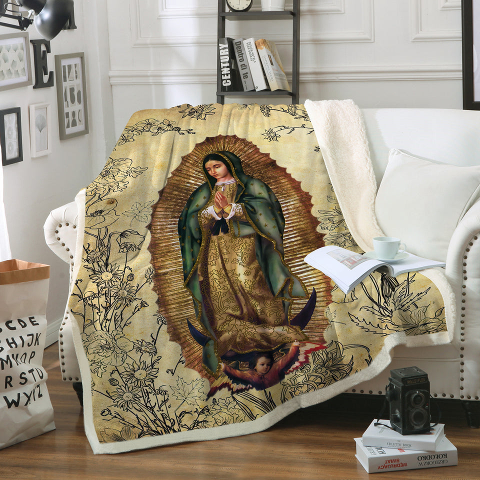 3D ALL OVER PRINTED Our Lady of Guadalupe Blanket 11