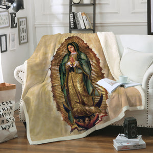 3D ALL OVER PRINTED OUR LADY OF GUADALUPE BLANKET 120