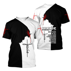 Lover Jesus 3D Printed Unisex T-Shirts 007