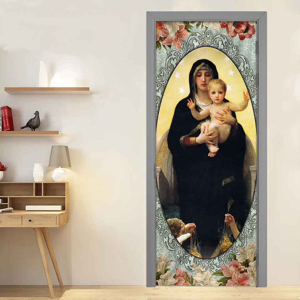Mother Mary and Jesus Door Cover KTN014