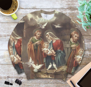 3D ALL OVER PRINTED MaMa Mary Sweatshirt  111