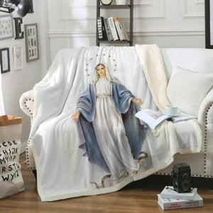 3D ALL OVER PRINTED MaMa Mary Blanket 112