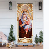 Mother Mary and Jesus Door Cover KTN012