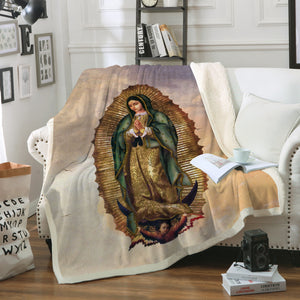 3D ALL OVER PRINTED Our Lady of Guadalupe Blanket 10