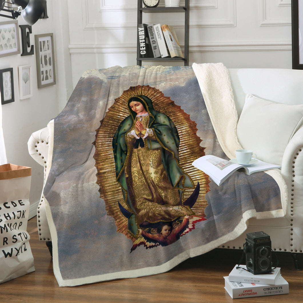 3D ALL OVER PRINTED Our Lady of Guadalupe Blanket 13
