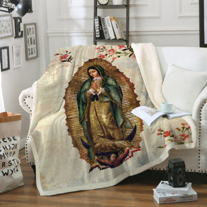 3D ALL OVER PRINTED Our Lady of Guadalupe Blanket 14