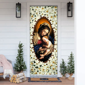 Mother Mary and Jesus Door Cover KTN019