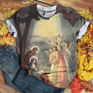 3D All Over Printed MAMA MARY LOVER TSHIRT 3D 06
