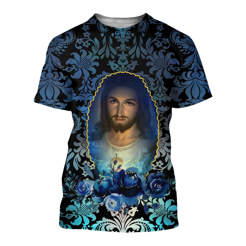 Lover Jesus 3D Printed Unisex T-Shirts 044