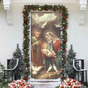 3D ALL OVER PRINTED MaMa Mary Door cover 111