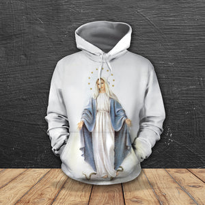3D ALL OVER PRINTED MaMa Mary Hoodie 112