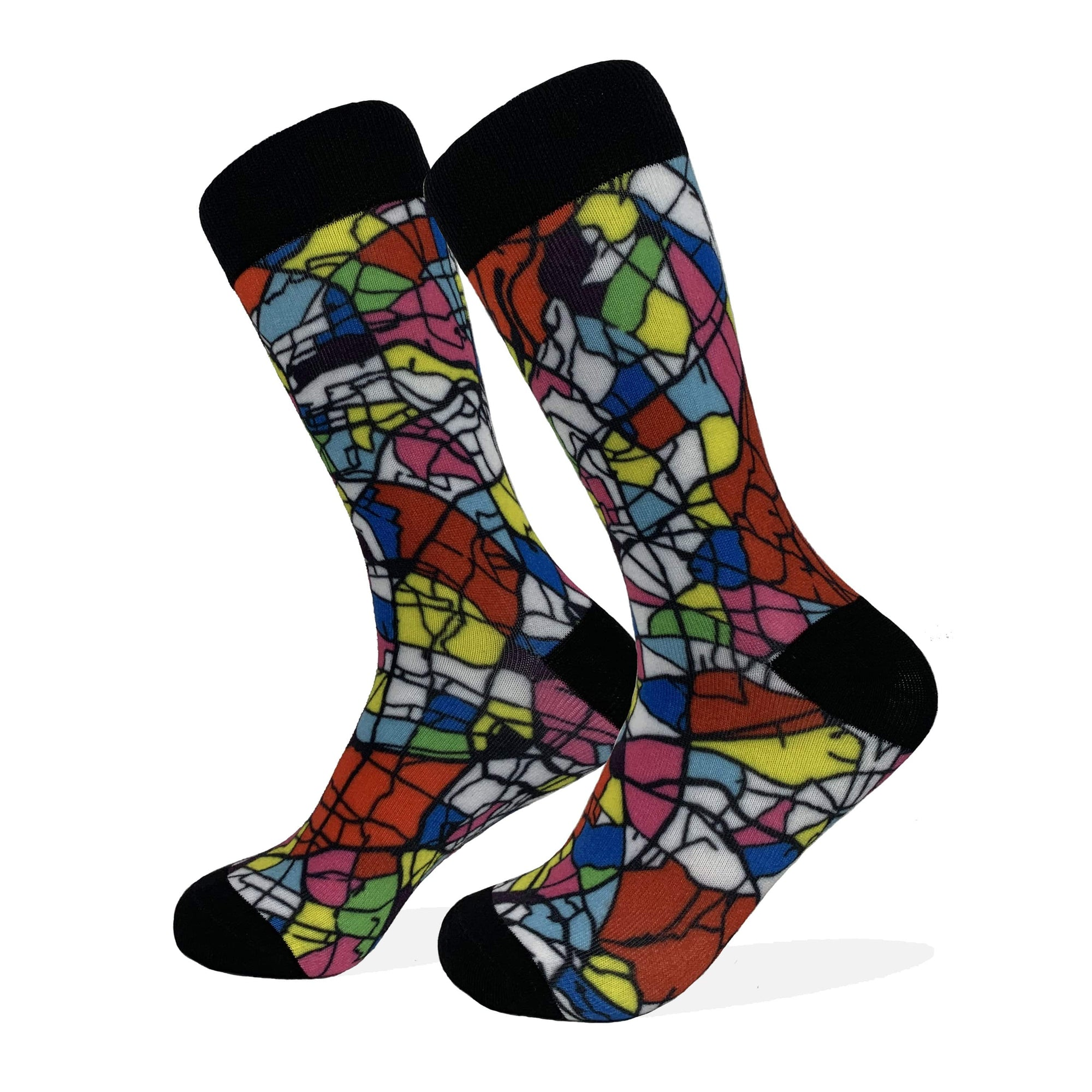 Tokyo Map Socks | Colorful & Funky Socks | Multi-Color