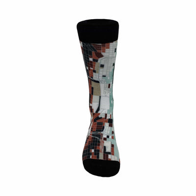 Chicago Map Socks | Colorful & Funky Socks | Front