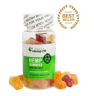 Tasty Hemp Oil – CBD Gummies 40 Count (25mg CBD Each)