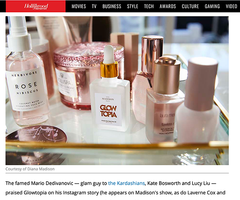 Diana Madison Beauty featured in the Hollywood Reporter