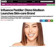 Diana Madison Beauty featured in Women's Wear Daily