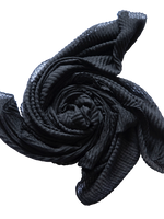 Black Crinkled Hijab