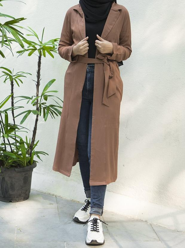 Bon Bon Light Me Up Trench Coat - Modest Essentials