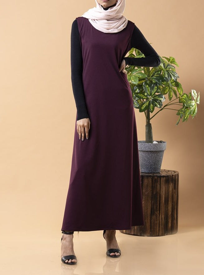 Maroon Layering Essential Dress