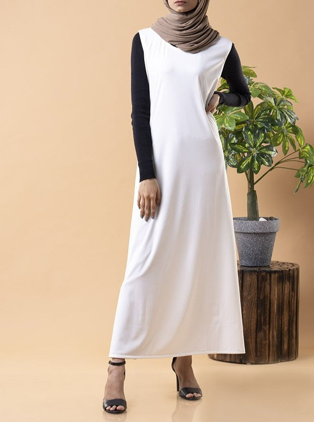 White Layering Essential Dress