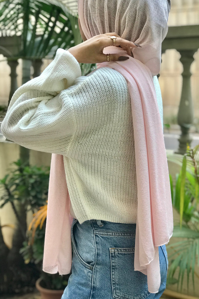Blush Textured Jersey Hijab