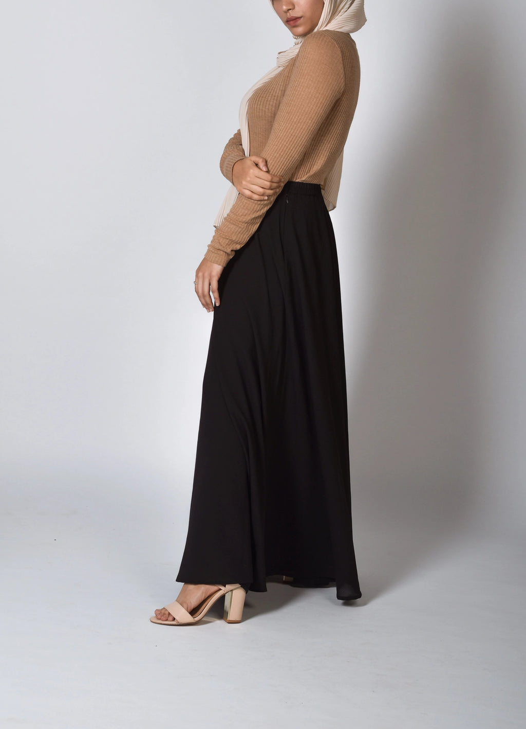 Cocoa SassQueen High Waist Skirt - Modest Essentials
