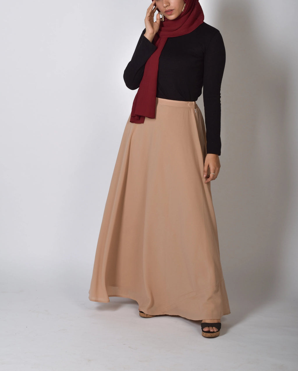 Cappuccino SassQueen High Waist Skirt - Modest Essentials