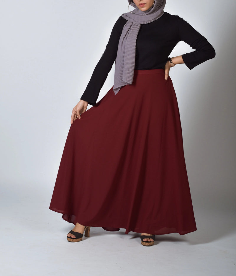 Spice SassQueen High Waist Skirt - Modest Essentials