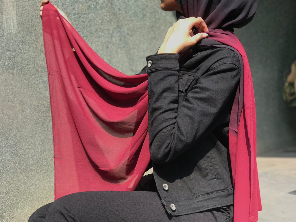 Twilight Black Shaded Georgette Hijab