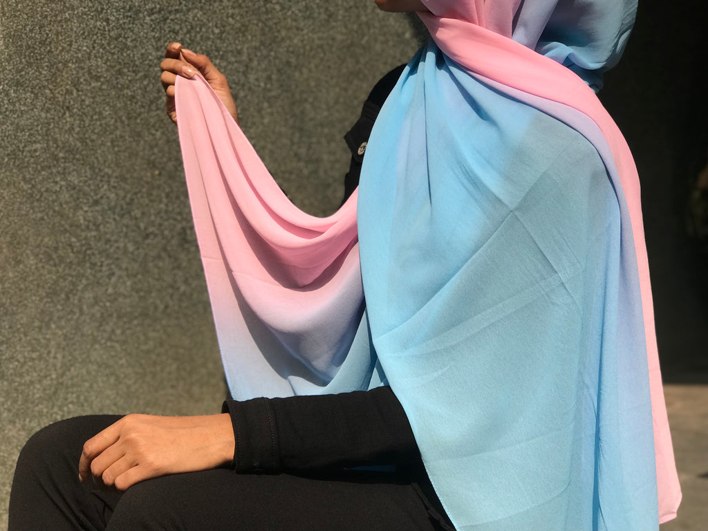 Bubblegum Shaded Georgette Hijab