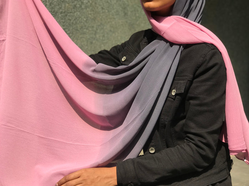Summer Solstice Shaded Georgette Hijab
