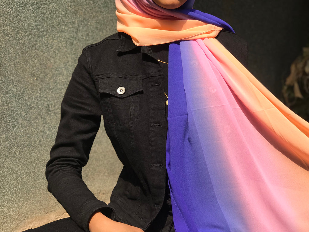 Dusk Shaded Georgette Hijab