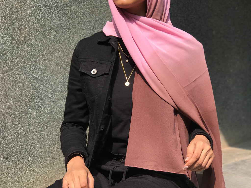 Roman Shaded Georgette Hijab