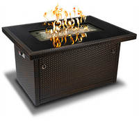 Rectangular Brown Fire Table