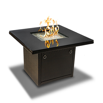 Square Brown Fire Table