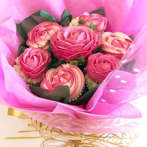 Romantic Rose Cupcake Bouquet