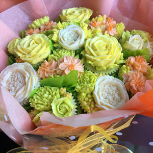 Spring Flower Cupcake Bouquet