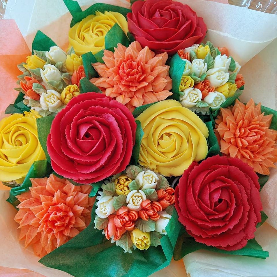 Autumnal Cupcake Bouquet