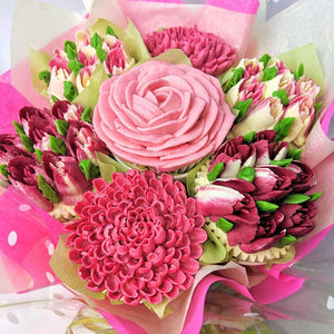 Claret and pink bouquet