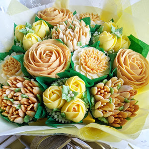 Golden Wedding Anniversary Cupcake Bouquet