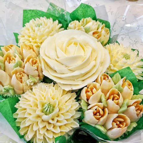 Cream Wedding Cupcake Bouquet