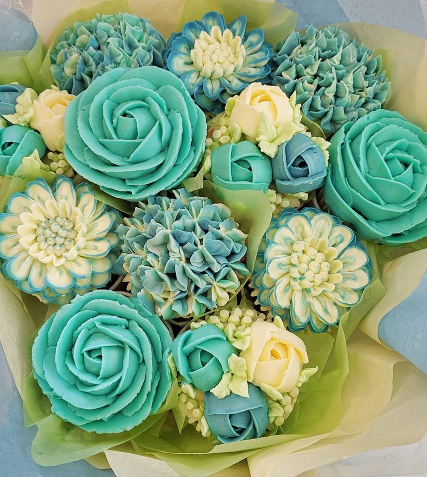 Roses Baby Shower Cupcake Bouquet